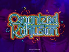 Organized Konfusion #hiphop #typography #colors