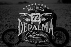 BDM Depalma Brush Lettering Logo #lettering #branding #motorcycles #vintage #brush #logo #hand