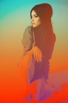 Lauren Marie Young Photography by Neil Krug #portrait #color #gradient