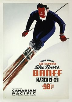 tumblr_ltl1u1xQza1qas1n0o1_500.jpg 429×604 pixels #illustration #vintage #poster #ski #banff