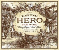 Origin Wines Unsung Hero - Simon™ / Bespoke Package Design & Branding #type #label