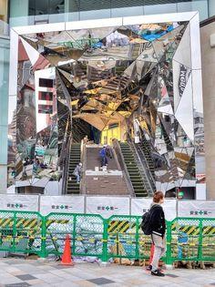The entrance to the new Tokyu Plaza Omotesando... | Tokyo Fashion #architecture #japan #tokyo #mirrors #harajuku