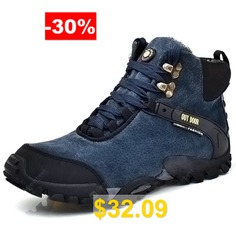 Outdoor #Anti-slip #Men #Shoes #Hiking #Boots #- #DEEP #BLUE