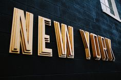 new york, sign, 3d