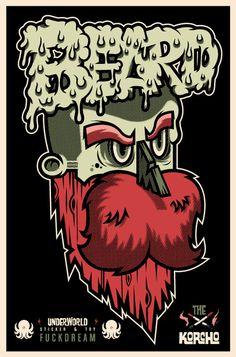 BARBA II en Behance #beard #korcho #ilustracin