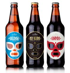13 brilliant craft beer label designs | Packaging | Creative Bloq #beer #branding #bottle #packaging #design #graphic #label #masks #wrestler