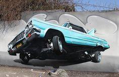 Retro car in realistic graffiti #graffiti #street art #realism #graffiti street art #realistic #street #art #realistic street art