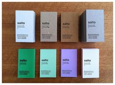 Tarjetas SALTO on the Behance Network #tarjetaspersonales #letterpress #stationary