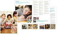 Nordson Corporation Foundation : jonathanschmitt.com #layout #teal #brochure #rust