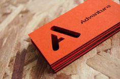 Adventure - Sam Lane Graphic Design #die #cut #business #card #print #orange