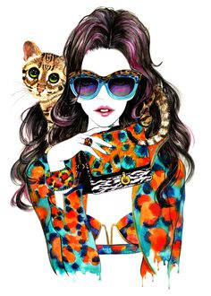 50 Beautiful Fashion Illustrations #fashion #beautiful #illustrations