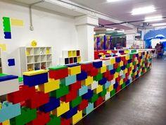 Fun at a play center using modular building blocks called EverBlock #modular #blocks #wall #colorful