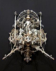 "Openings: Kris Kuksi – ""Triumph"" @ Joshua Liner Gallery | Arrested Motion #sculpture"