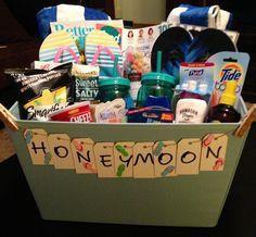 Fancy honeymoon gift basket!