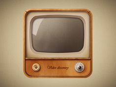 old television #icon #television #design #retro #lights #illustration #app #vintage