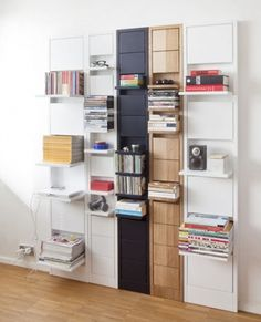Shelving on Demand: Little Modular Ledges Flip Up & Down | Designs & Ideas on Dornob #furniture #shelve