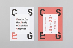 Visual identity and posters by Canadian studio Blok for The Center for the Study of Political Graphics