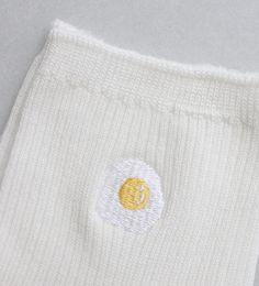 Egg embroidery sock, Sleepy Jones