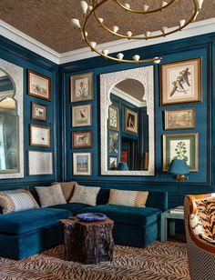 Painting Room With Hues Of Blue - www.homeworlddesign. com (10) #design #decor #blue #room #decoration
