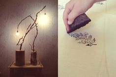 A + K on Behance #wedding #lamp #decor