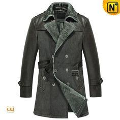 Mens Sheepskin Leather Coat CW856058 #sheepskin #mens #coat