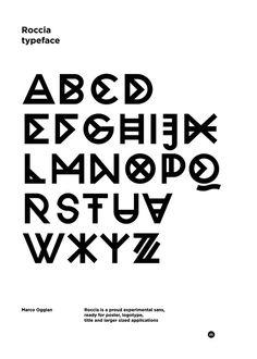 Roccia Typeface - Marco Oggian #typography
