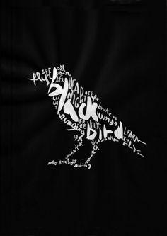 Black Bird Art Print #music #beatles #typography