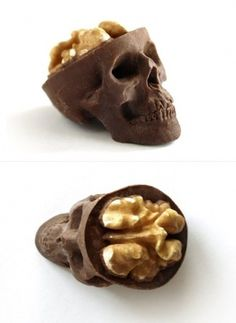 WALNUT BRAINS X CHOCOLATE SKULL | AnOther Loves #chocolate #skull #brain #candy #walnut