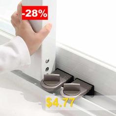 Adjustable #Sliding #Window #Door #Safety #Lock #Stopper #- #DEEP #BROWN