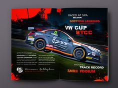 KGRacing (Brochure layout 1) #spot #btcc #print #motorsport #identity #layout #brochure #typography