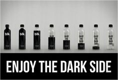 Black Spring Water Is Healthy; Looks Disgusting #blk #water #mineral #packaging #dark