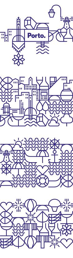 New identity for the city of Porto on Behance #illustration