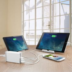 5-Port Family-Sized Desktop USB Charger #tech #flow #gadget #gift #ideas #cool