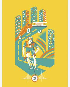 Javier Garcia Design // Work #illustration #bike
