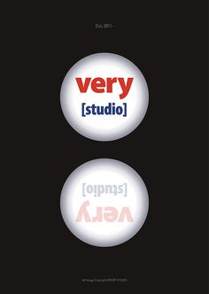 """Very Studio"" poster #panjin #design #graphic #two #studio #poster #circle"