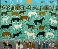 mieke willems #naive #illustration #outsider #painting