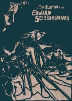 Edward Scissorhands by Dan Sherrat #design #scissorhands #dan #sherrat #poster #edward
