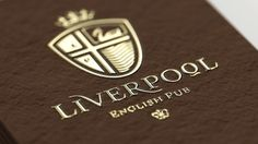 Liverpool English Pub on the Behance Network #stationary #branding #menu #liverpool #english #crest #identity #pub