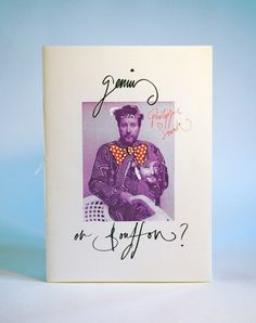 Genius or Bouffon? - Jake Pardoe #lettering #zine #publication #illustration #hand