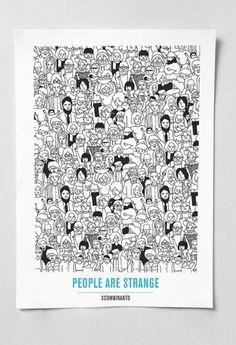 PEOPLE ARE STRANGE on the Behance Network #antonio #colomboni #peopleillustration #graphi