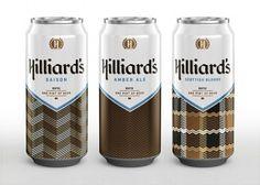 Hilliard's | Lovely Package #packaging #beer #herringbone #typography