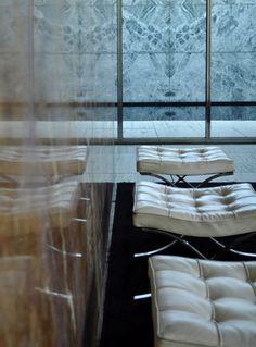 Merde! - habitualbliss: Barcelona Pavilion, Mies Van Der... #interior #design