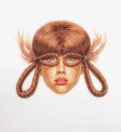Winnie Truong   PICDIT #art #hair #drawing