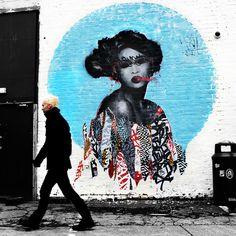 Hush in the UK. #geisha #mural
