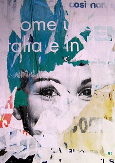 Marina Tercelan #grunge #print #advertising #wall #street #collage #paper
