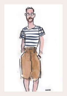 Capsule | Snap Sketch - NYTimes.com #mark #haines #shorts #fashion #man #sketch