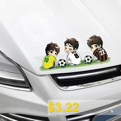 Car #DIY #Removable #Soccer #Player #Style #Waterproof #Sticker #- #MULTI