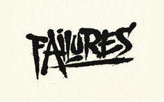 Failures by Simon Ã…lander. #design #graphic #typography
