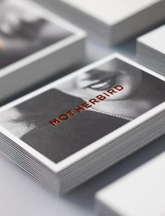 graphicporn:Motherbird #card #letterpress #business