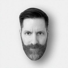 Mounted Head, created by Michael Nÿkamp @ mkn-design.com #head #michael #beard #awesome #black and white #shadow
